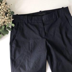 Theory Wool Testra Tuck Stripe Career Pants
